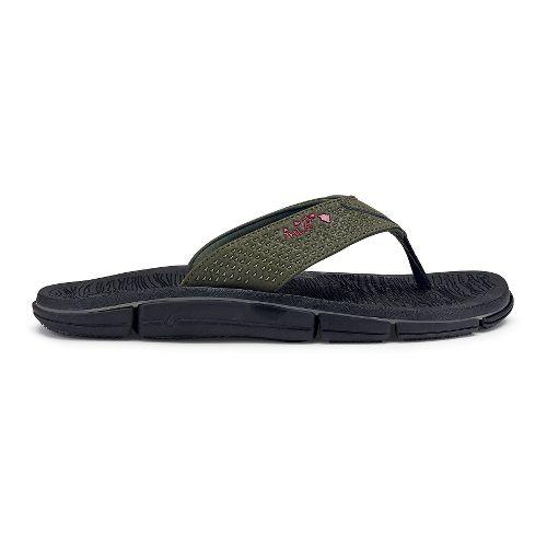 Mens OluKai Kia'I Kei Sandals Shoe - Kona/Black 9