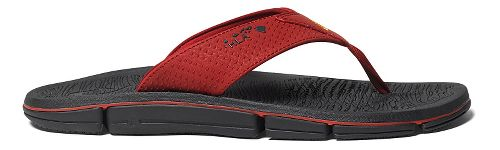 Mens OluKai Kia'I Kei Sandals Shoe - Deep Red/Black 12