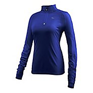 Womens Saucony Transition Sportop Long Sleeve Half Zip Technical Tops