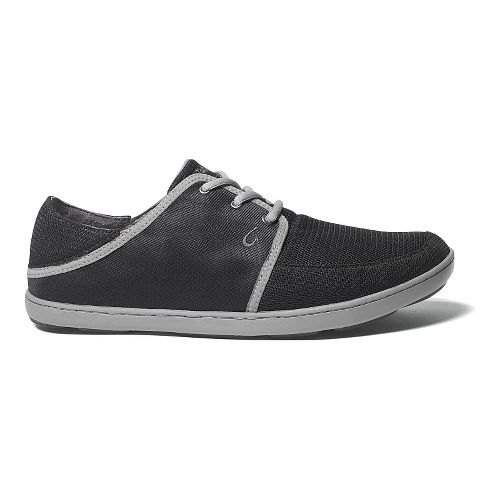 Mens OluKai Nohea Lace Mesh Casual Shoe - Black/Black 10.5