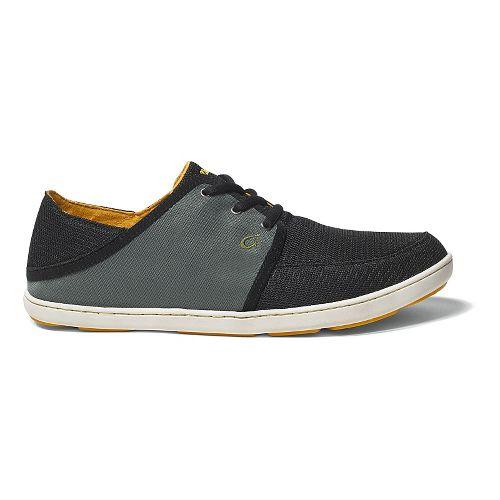 Mens OluKai Nohea Lace Mesh Casual Shoe - Black/Palm 10