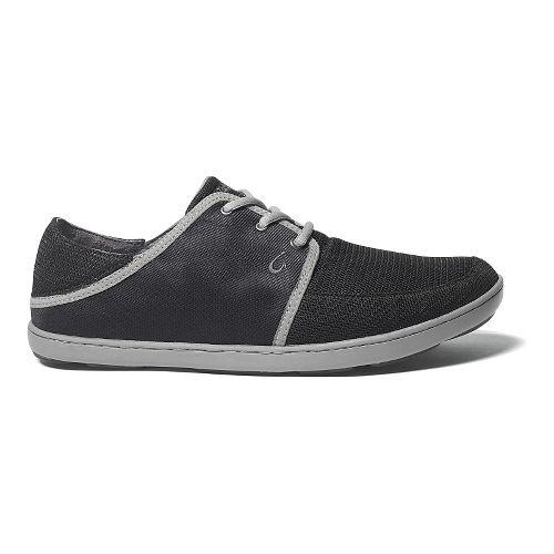 Mens OluKai Nohea Lace Mesh Casual Shoe - Black/Black 9.5
