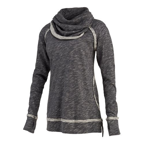 Womens Saucony Easy Cowl Long Sleeve No Zip Non-Technical Tops - Carbon XL