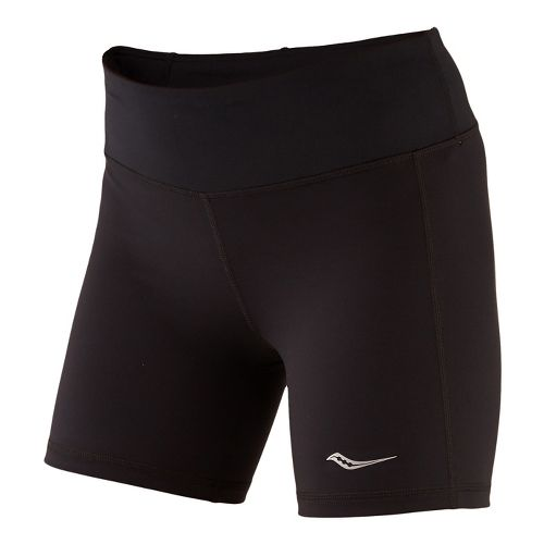 Womens Saucony Scoot Tight Unlined Shorts - Black L