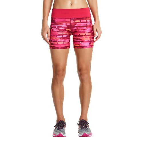 Womens Saucony Scoot Tight Unlined Shorts - Red Wine 1X