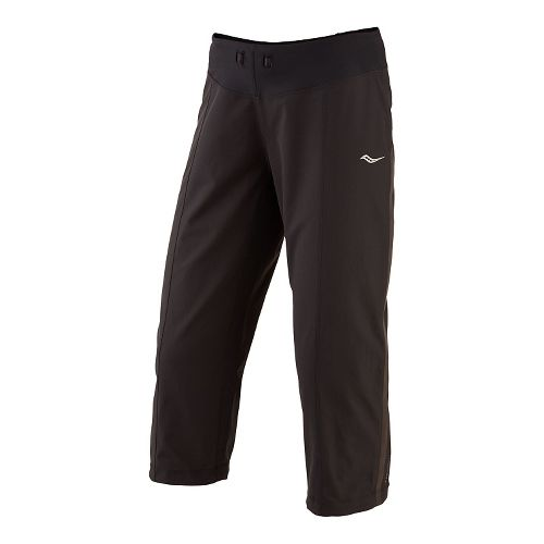 Womens Saucony City Capri Pants - Black L