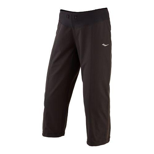 Womens Saucony City Capri Pants - Black XL