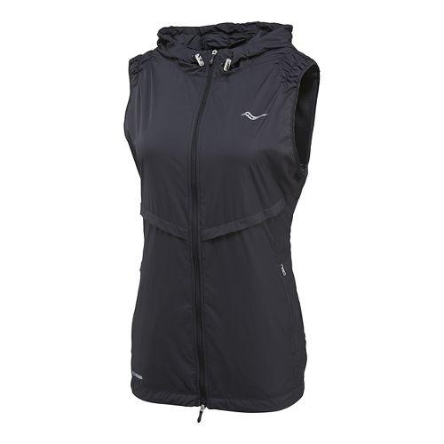 Womens Saucony Breeze Running Vests - Black XS
