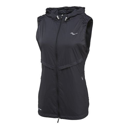 Womens Saucony Breeze Running Vests - Black XL