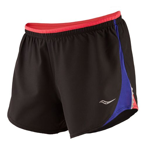 Womens Saucony Run Lux III Unlined Shorts - Cherry Burst Sunset M