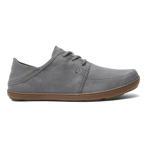 Mens OluKai Nohea Lace Twill Casual Shoe - Charcoal/Charcoal 14