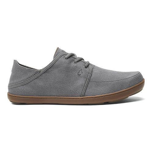 Mens OluKai Nohea Lace Twill Casual Shoe - Charcoal/Charcoal 9.5