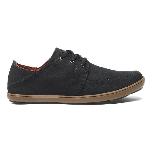 Mens OluKai Nohea Lace Twill Casual Shoe - Black/Black 10.5