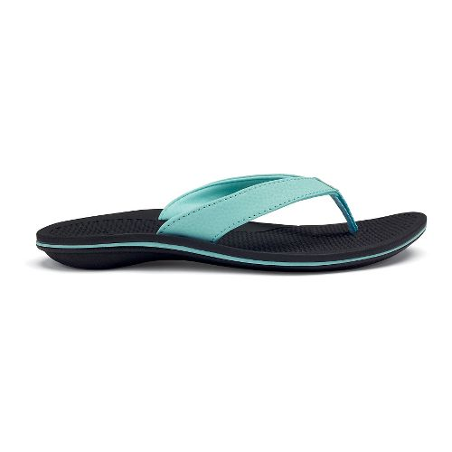 Womens OluKai Ono Sandals Shoe - Sea Glass/Black 10