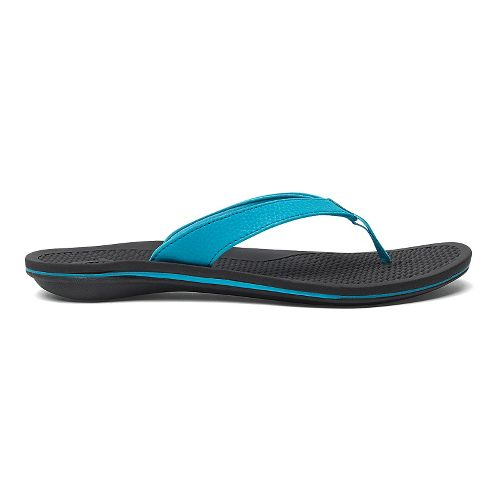 Womens OluKai Ono Sandals Shoe - Coastal Blue/Black 10