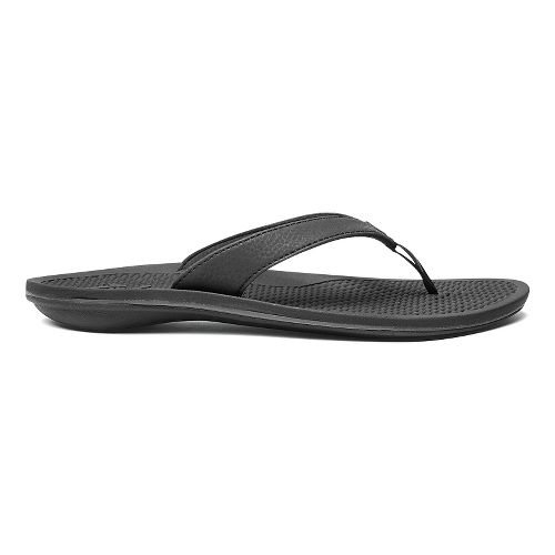 Womens OluKai Ono Sandals Shoe - Pewter/Black 8