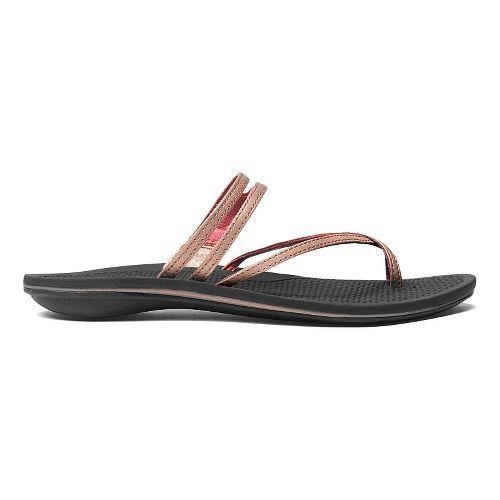 Womens OluKai Maa Kai Sandals Shoe - Rose Gold/Black 6