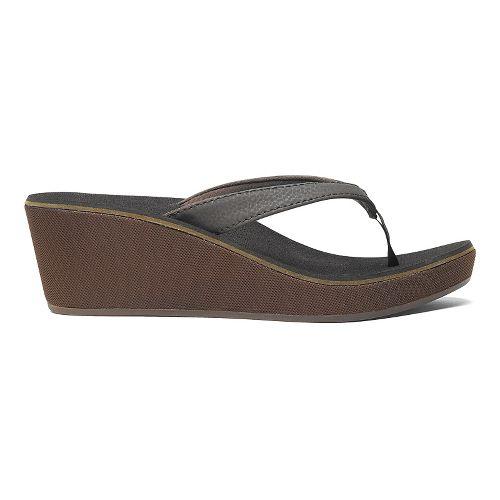 Womens OluKai Ipo Wedge Sandals Shoe - Dark Java/Dark Java 6