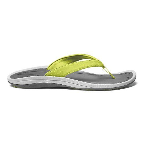 Womens OluKai IA Sandals Shoe - Sweet Lime/Charcoal 9