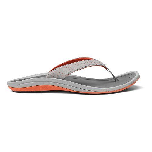 Womens OluKai IA Sandals Shoe - Mist Grey/Charcoal 8