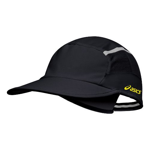 ASICS Quick Lyte Cap Headwear - Black/Safety Yellow