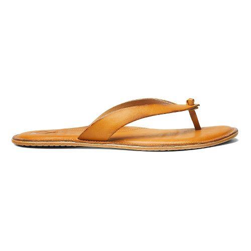 Womens OluKai Lii Sandals Shoe - Mustard/Mustard 11