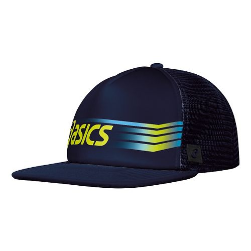 ASICS Sideswipe Trucker Headwear - Navy/Wow