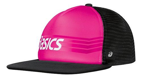 ASICS Sideswipe Trucker Headwear - Pink Glo/Black