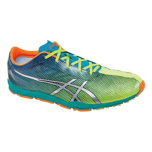 Mens ASICS Piranha SP 5 Racing Shoe - Flash Yellow/Blue 7.5