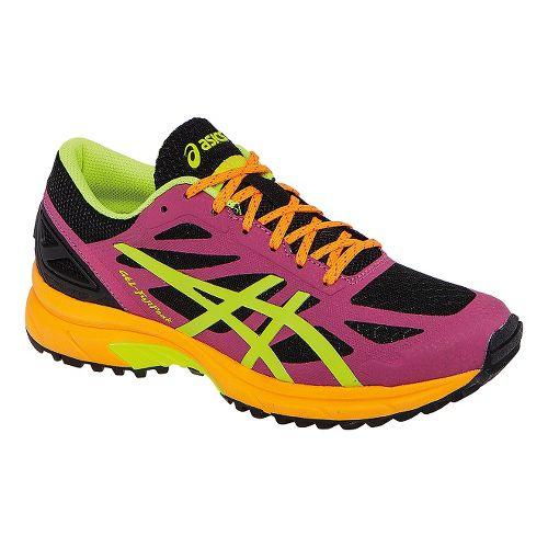 Womens ASICS GEL-FujiPro Trail Running Shoe - Onyx/Hot Pink 10.5