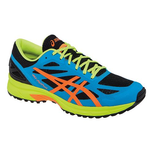 Mens ASICS GEL-FujiPro Trail Running Shoe - Onyx/Atomic Blue 6