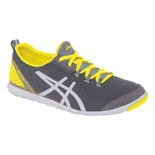 Womens ASICS MetroLyte Walking Shoe - Heather Grey/Yellow 6.5