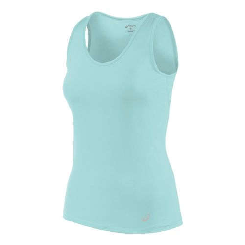 Womens ASICS Sleeveless & Tank Tops Technical Tops - Aqua Splash L
