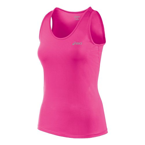 Womens ASICS Performance Run Tank Technical Tops - Pink Glow XS