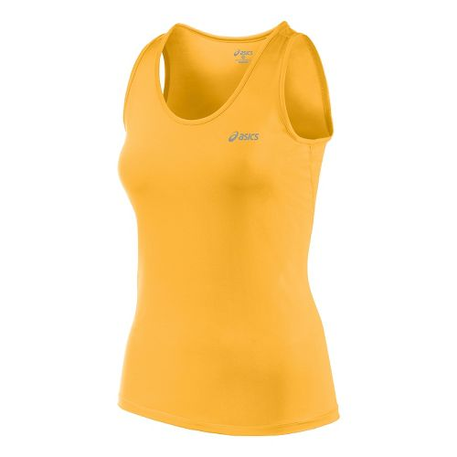 Womens ASICS Performance Run Tank Technical Tops - Fizzy Peach S