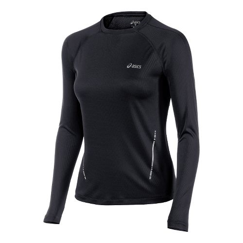 Womens ASICS Long Sleeve Technical Tops - Performance Black S