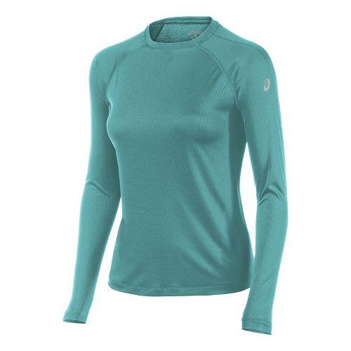 Womens ASICS Performance Run Long Sleeve Technical Tops - Mint Green S