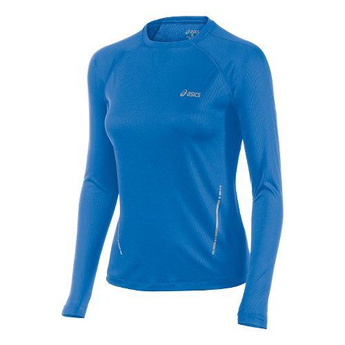 Womens ASICS Performance Run Top Long Sleeve No Zip Technical Tops - Jeans XL