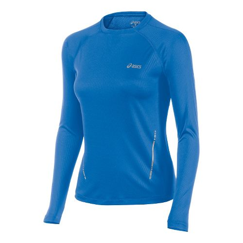 Womens ASICS Performance Run Top Long Sleeve No Zip Technical Tops - Jeans XS
