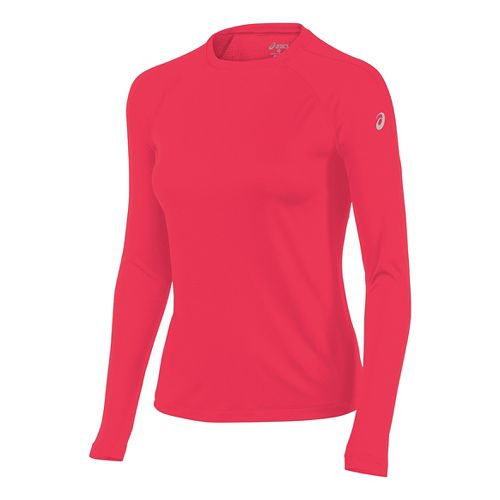 Womens ASICS Long Sleeve Technical Tops - Diva Pink L