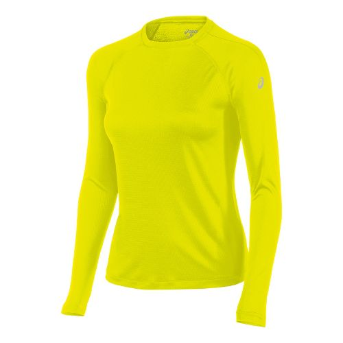 Womens ASICS Long Sleeve Technical Tops - Safety Yellow M