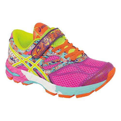 Kids ASICS GEL-Noosa Tri 10 Running Shoe - Hot Pink/Yellow 2Y