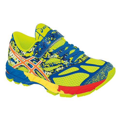 Kids ASICS GEL-Noosa Tri 10 PS Running Shoe - Flash Yellow/Orange 13