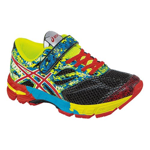 Kids ASICS GEL-Noosa Tri 10 PS Running Shoe - Black/Red Pepper 1