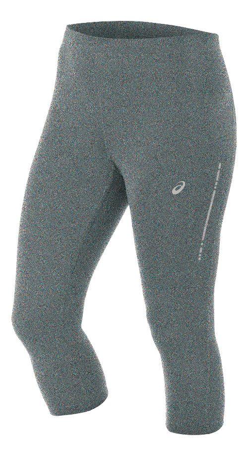 Womens ASICS Knee Tight Capris Pants - Grey Heather XL