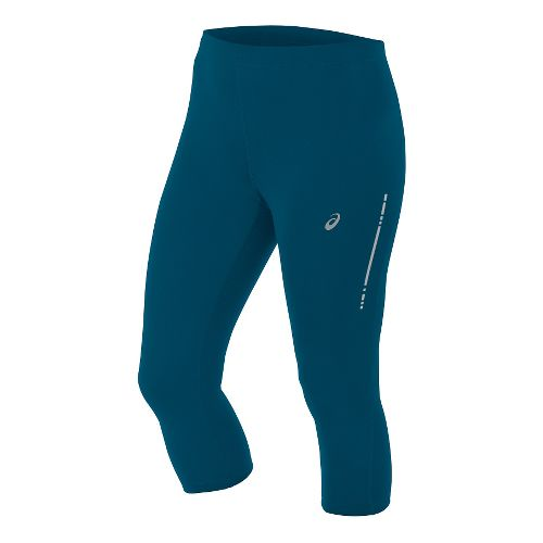 Womens ASICS Knee Tight Capris Pants - Teal XS