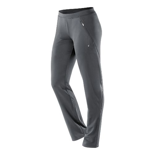 Womens ASICS Essentials Full Length Pants - Dark Grey L-R