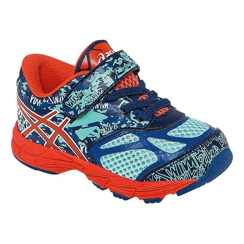 Kids ASICS Noosa Tri 10 TS Running Shoe - Blue/Cherry Tomato 8