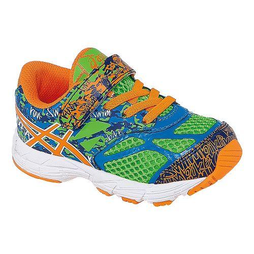 Kids ASICS Noosa Tri 10 TS Running Shoe - Flash Green/Orange 9