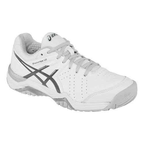 Womens ASICS GEL-Encourage LE Court Shoe - White/Silver 7.5